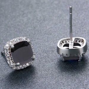 🌿Black Sapphire CZ Earrings